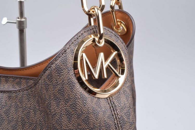 Michael Kors Accessoires  Bruin  (MK LILLIE Lg Chain Shldr Tote - 30T9G0LE3B 252 Brown/Acorn) - Mayday (Aalst)